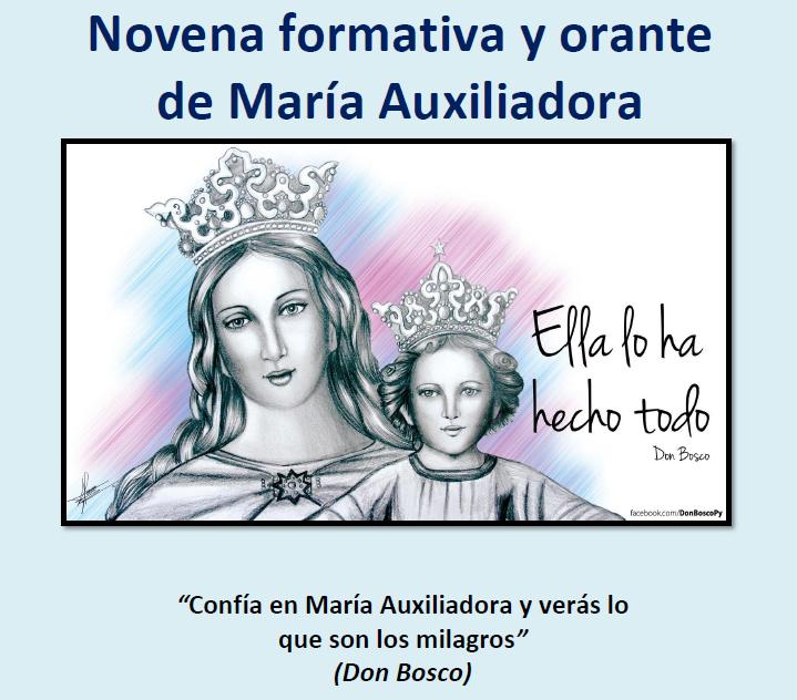 Novena formativa y orante María Auxiliadora